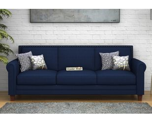 Aldean 3 Seater Fabric Sofa (Indigo Ink)
