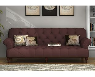 Allison 3 Seater Sofa (Fabric, Classic Brown)