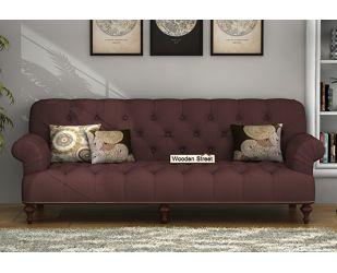 Allison 3 Seater Sofa (Fabric, Classic Brown)