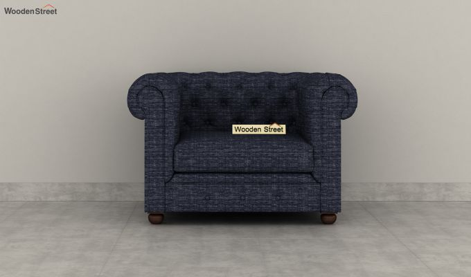 Henry 2 Seater Sofa (Fabric, Blue Siberia)-6