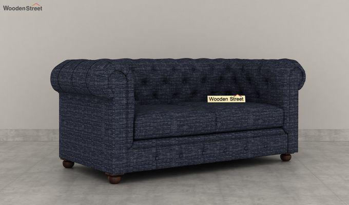 Henry 2 Seater Sofa (Fabric, Blue Siberia)-2