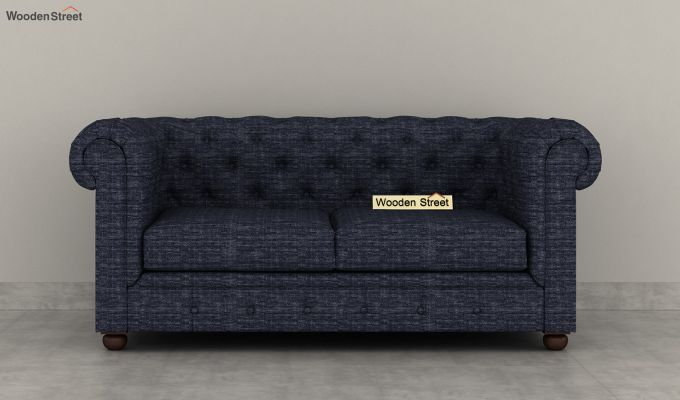 Henry 2 Seater Sofa (Fabric, Blue Siberia)-3