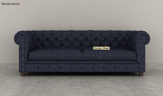 Henry 2 Seater Sofa (Fabric, Blue Siberia)-8