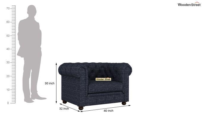 Henry 2 Seater Sofa (Fabric, Blue Siberia)-10