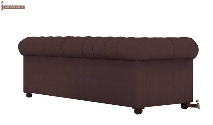 Henry 3 Seater Sofa (Fabric, Classic Brown)-4