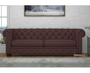Henry 3 Seater Sofa (Fabric, Classic Brown)