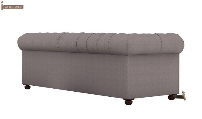 Henry 3 Seater Sofa (Fabric, Warm Grey)-4