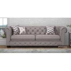 Henry 3 Seater Sofa (Fabric, Warm Grey)