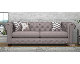 Henry 3 Seater Sofa (Fabric, Warm Grey)