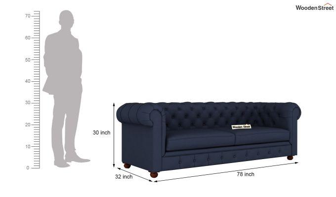 Henry 2 Seater Sofa (Fabric, Indigo Ink)-13