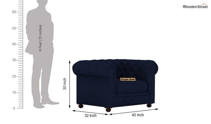 Henry 3+1+1 Fabric Sofa Set  (Indigo Ink)-7
