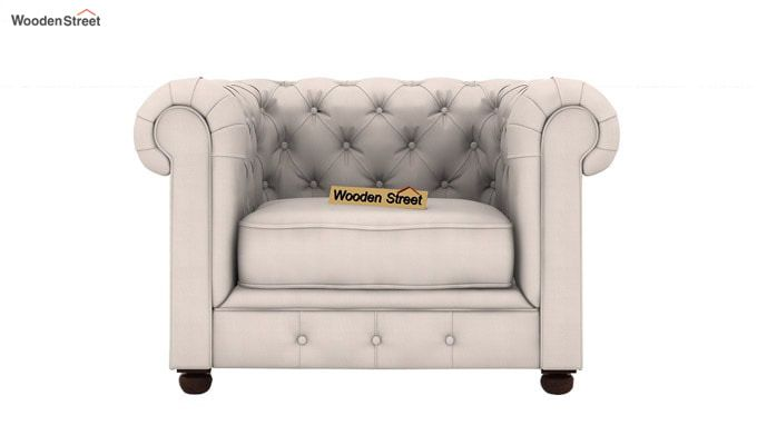 Henry 1 Seater Sofa (Fabric, Ivory Nude)-2