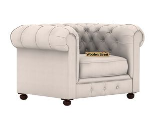 Henry 1 Seater Sofa (Fabric, Ivory Nude)