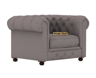 Henry 1 Seater Sofa (Fabric, Warm Grey)