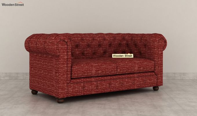 Henry 2 Seater Sofa (Fabric, Red Siberia)-2