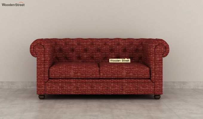 Henry 2 Seater Sofa (Fabric, Red Siberia)-3