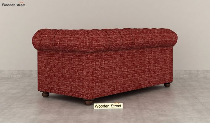 Henry 2 Seater Sofa (Fabric, Red Siberia)-4