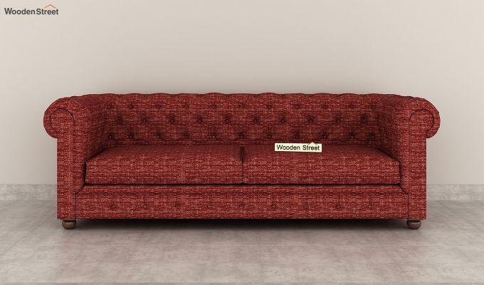 Henry 2 Seater Sofa (Fabric, Red Siberia)-8