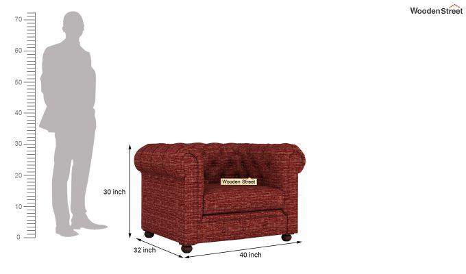 Henry 2 Seater Sofa (Fabric, Red Siberia)-10