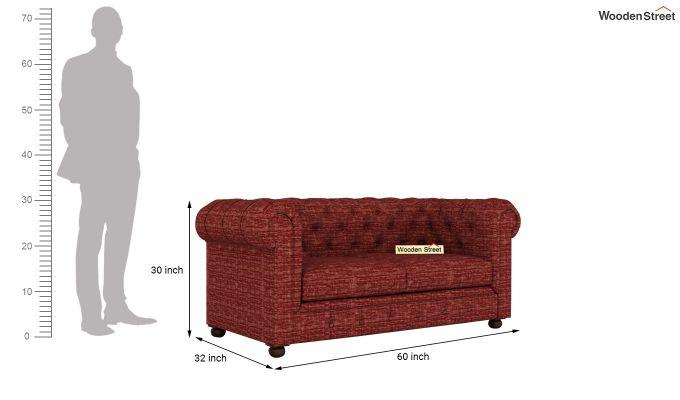Henry 2 Seater Sofa (Fabric, Red Siberia)-11