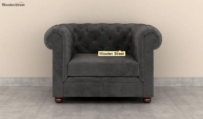 Henry 2 Seater Sofa (Velvet, Graphite Grey)-6