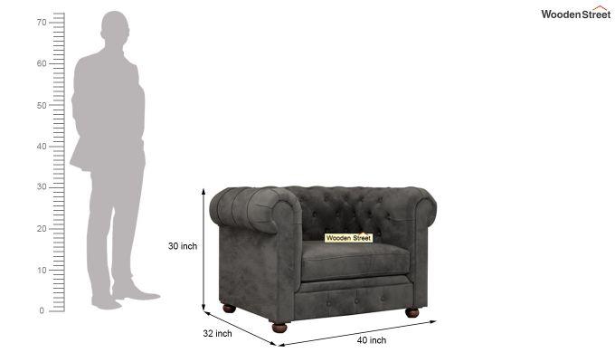 Henry 2 Seater Sofa (Velvet, Graphite Grey)-9