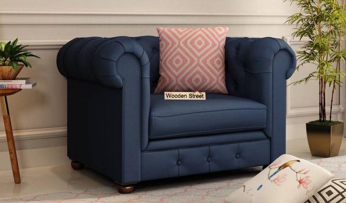 Henry 2 Seater Sofa (Fabric, Indigo Ink)-5