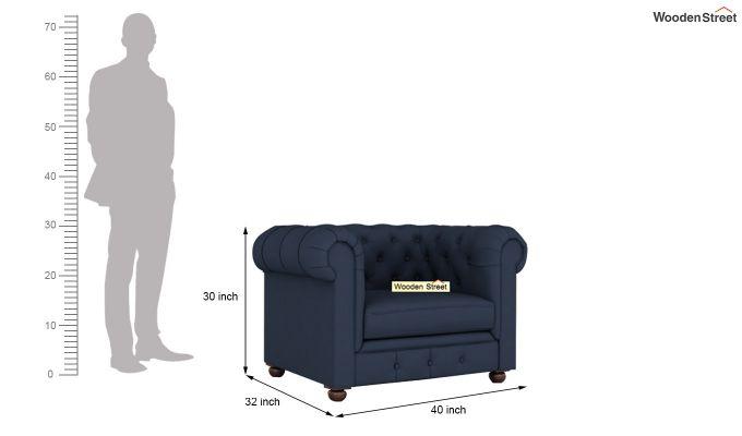 Henry 2 Seater Sofa (Fabric, Indigo Ink)-11