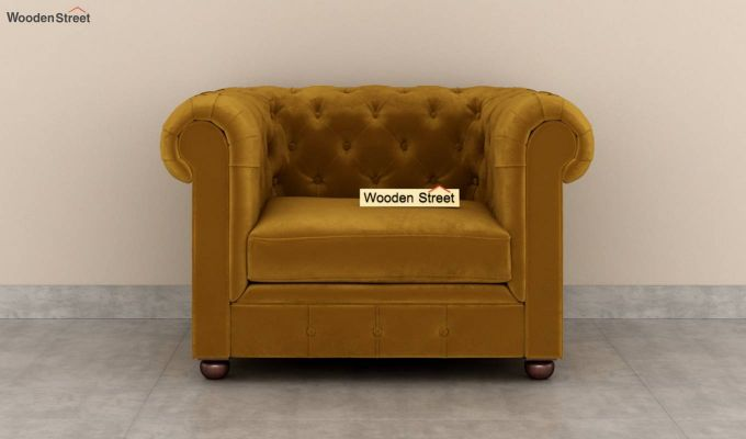 Henry 2 Seater Sofa (Velvet, Chestnut Brown)-6