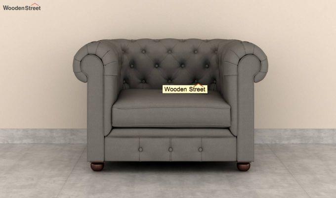Henry 2 Seater Sofa (Fabric, Warm Grey)-6