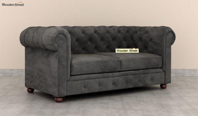 Henry 2 Seater Sofa (Velvet, Graphite Grey)-2