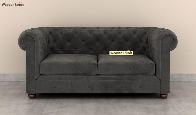 Henry 2 Seater Sofa (Velvet, Graphite Grey)-3