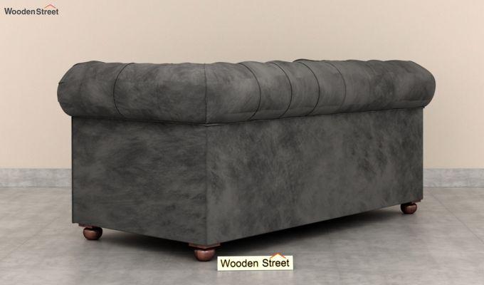 Henry 2 Seater Sofa (Velvet, Graphite Grey)-4