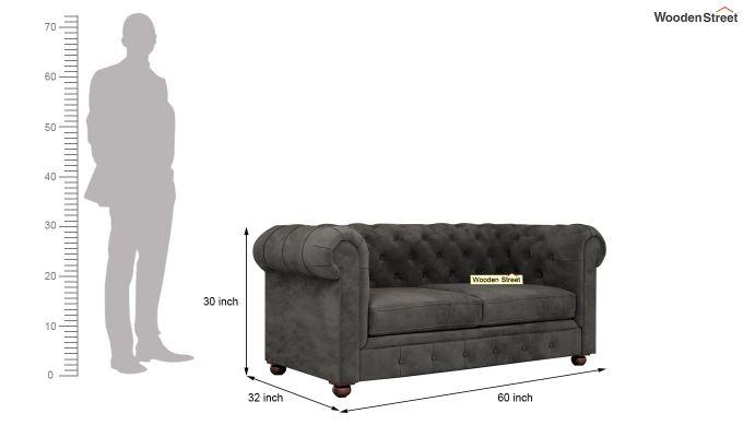 Henry 2 Seater Sofa (Velvet, Graphite Grey)-10
