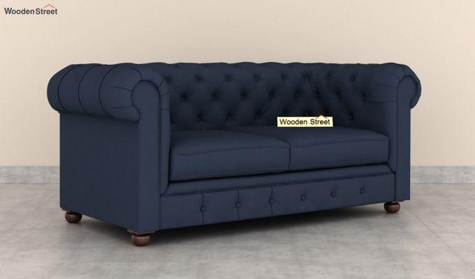 Henry 2 Seater Sofa (Fabric, Indigo Ink)-2