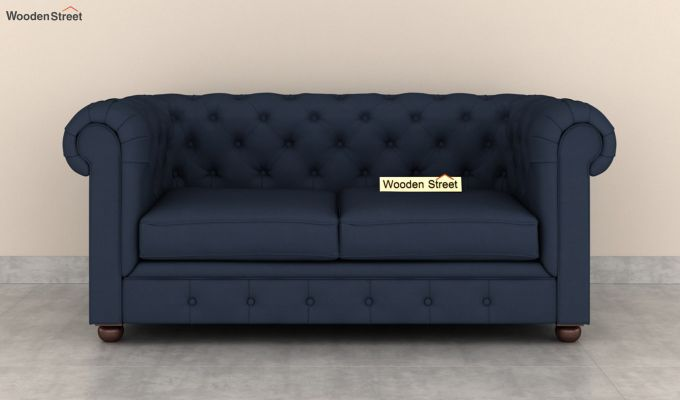 Henry 2 Seater Sofa (Fabric, Indigo Ink)-3