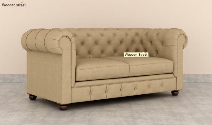 Henry 2 Seater Sofa (Fabric, Irish Cream)-2