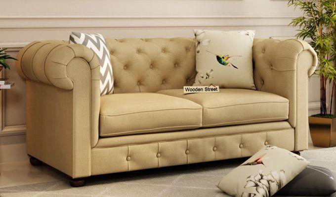 Henry 2 Seater Sofa (Fabric, Irish Cream)-1