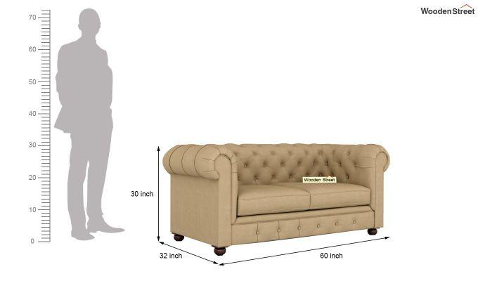 Henry 2 Seater Sofa (Fabric, Irish Cream)-10