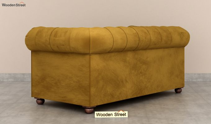 Henry 2 Seater Sofa (Velvet, Chestnut Brown)-4