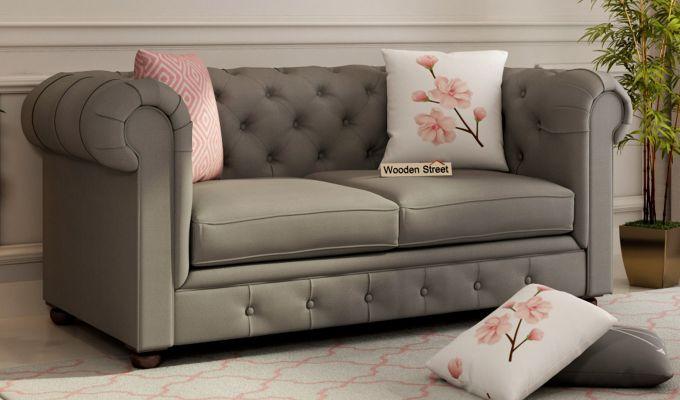 Henry 2 Seater Sofa (Fabric, Warm Grey)-1