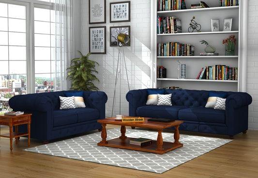 Henry Fabric Sofa Set 3+2 (Indigo Ink)