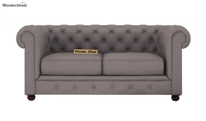 Henry 2 Seater Sofa (Fabric, Warm Grey)-2