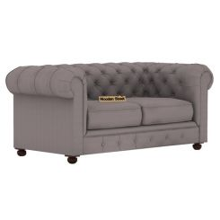 Henry 2 Seater Sofa (Fabric, Warm Grey)