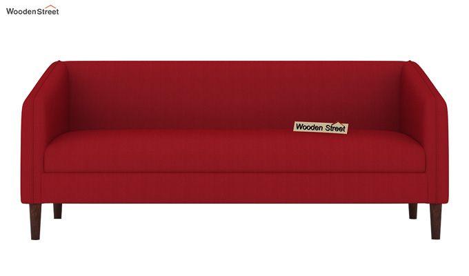 Letcher 3 Seater Sofa (Fabric, Dusky Rose)-2