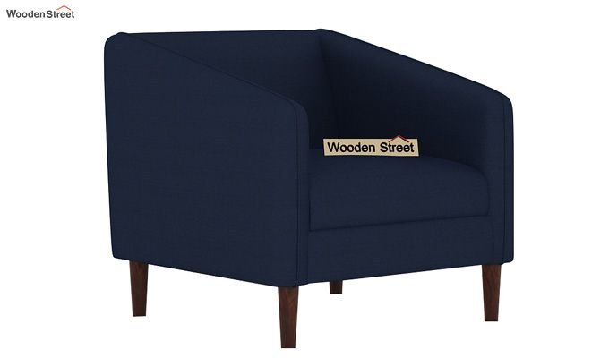 Letcher 3+1+1 Fabric Sofa Set  (Indigo Ink)-5