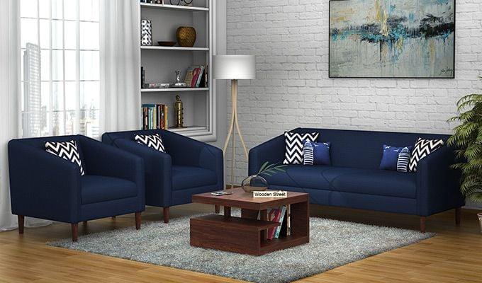 Letcher 3+1+1 Fabric Sofa Set  (Indigo Ink)-1