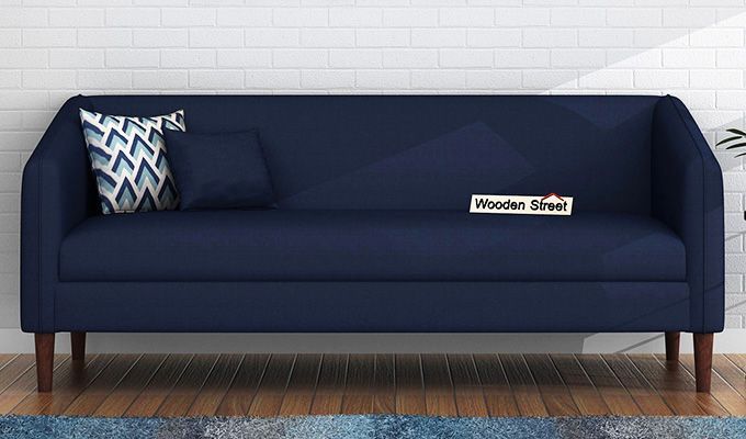 Letcher 3 Seater Sofa (Fabric, Indigo Ink)-1