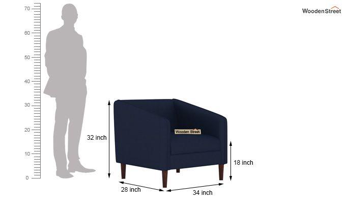 Letcher 3+1+1 Fabric Sofa Set  (Indigo Ink)-9