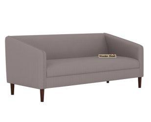 Letcher 3 Seater Sofa (Fabric, Warm Grey)